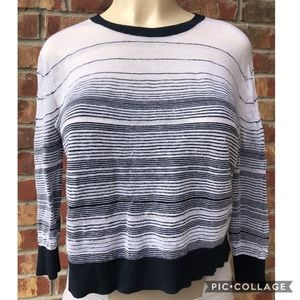 Theory sweater striped blue white Size medium